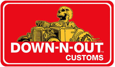Down n Out Hot Rod Mini Sticker