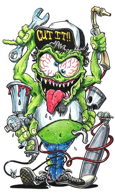Mechanic Kustom Kulture Monster Sticker