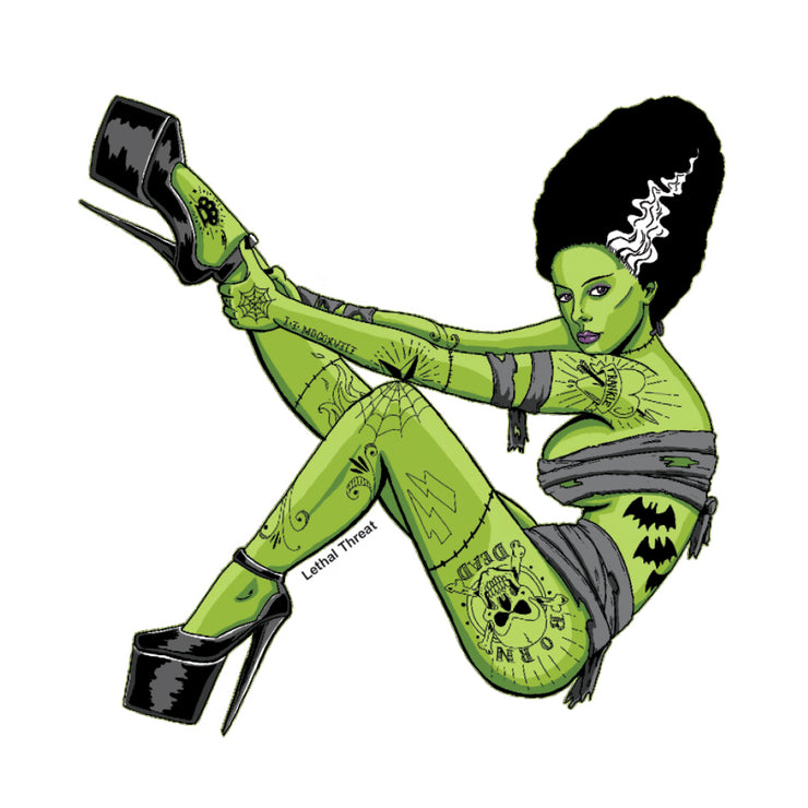 Bride Of Frankenstein Pin Up Girl Mini Decal/Sticker