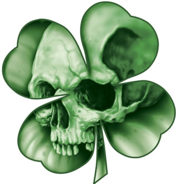 Rude & Crude Decal: Clover Skull