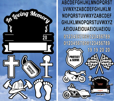 In Memory Decal Series