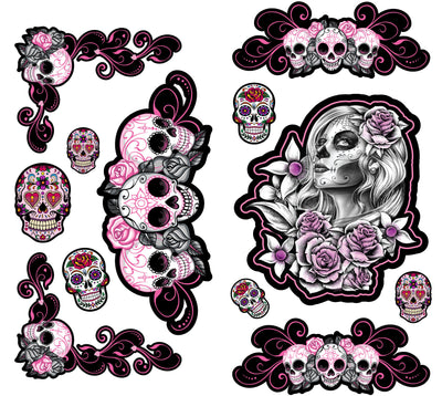 Sugar Skulls Decal Series