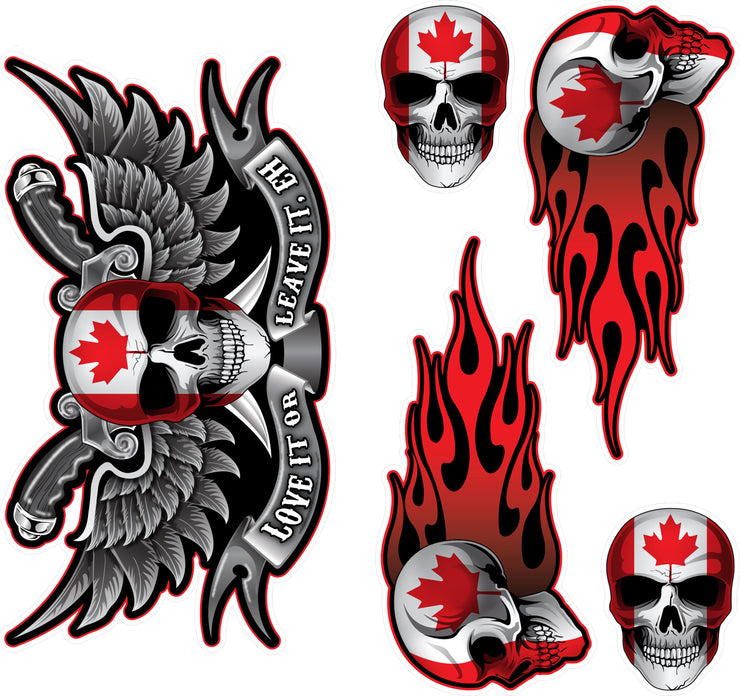 Canada Skull Decal Series