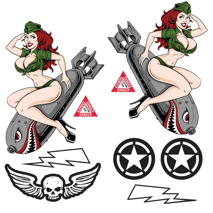 Bombs Away Decal Series Sticker Pack
