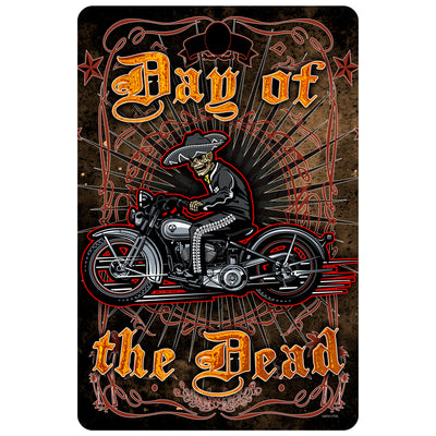 Day of the Dead Rider Vintage Metal Sign