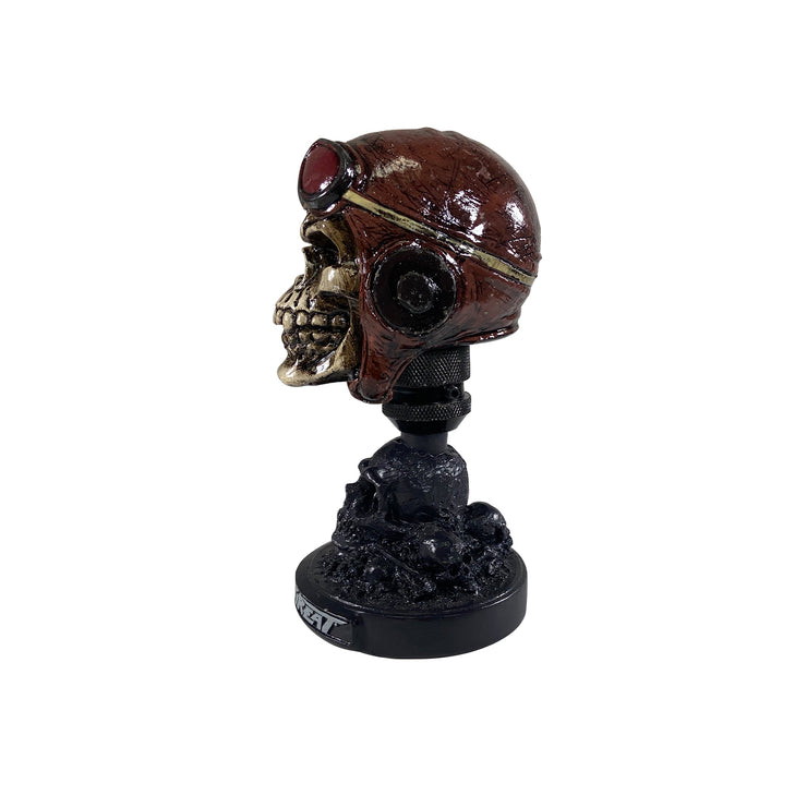 Racing Skull Head with Skull Display Stand
