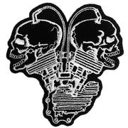 Skull Cylinder Head Vintage Embroidered Patch