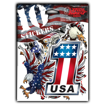 10 Stickers USA Series