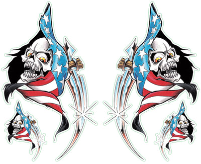 USA Reaper Left & Right Decal