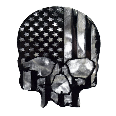 U.S.A. Skull Black and Silver Metal Hitch Plug