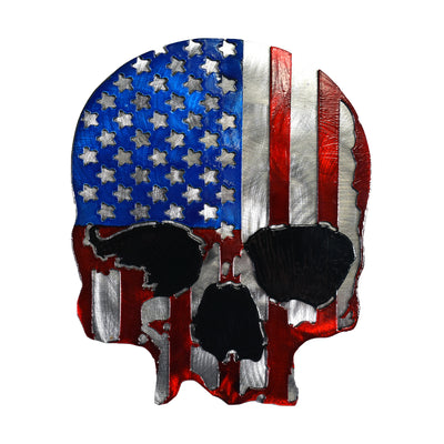 U.S.A. Skull Color Metal Hitch Plug