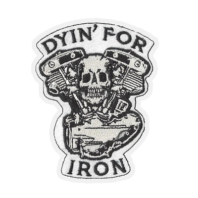 Pan Head Engine Skull Embroidered Patch