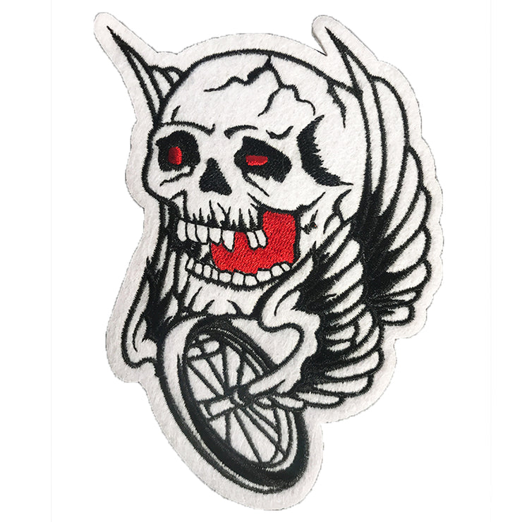 Blood Eye Wing Tire Skull Embroidered Patch