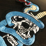 Silent & Dead Skull Snake Embroidered Patch