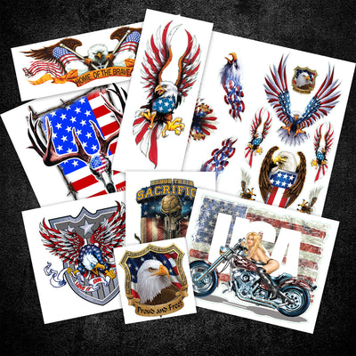 USA Themed Sticker Value Pack