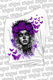 Lady Butterfly Off The Shoulder Tee Shirt