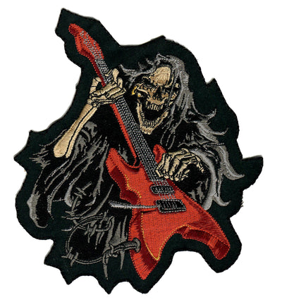 Guitar Reaper Embroidered Patch