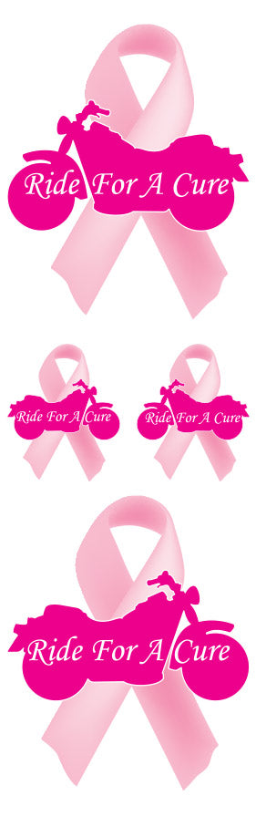 Ride For A Cure Cancer Awareness Decal