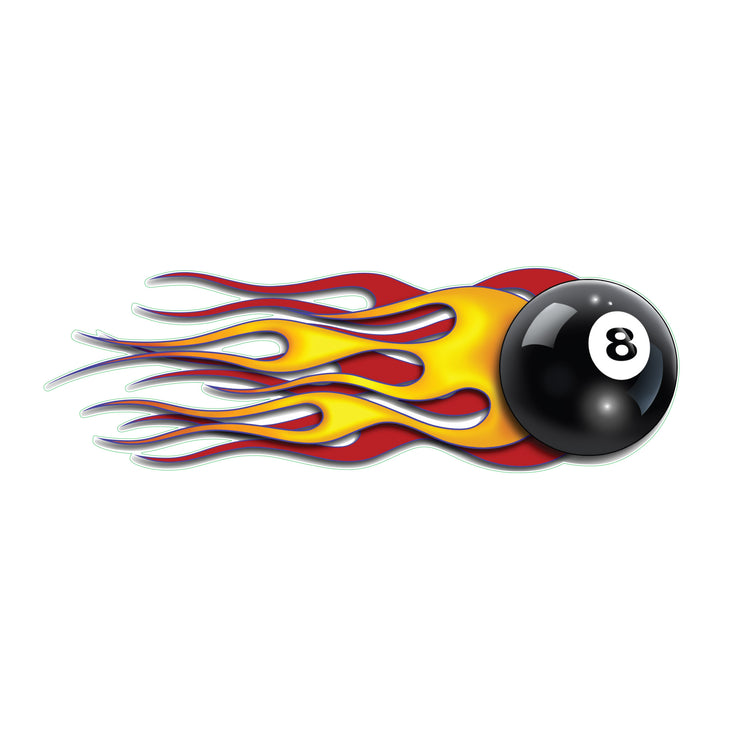 Flaming 8-Ball Right Decal