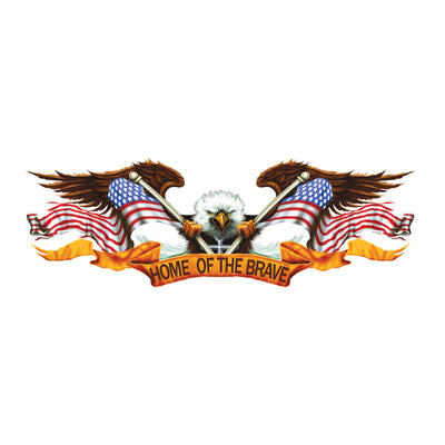 Home of the Brave Eagle Large Decal
