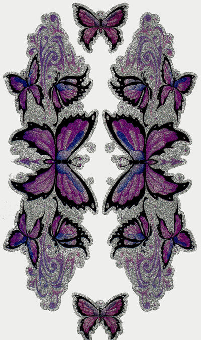 Purple Butterfly Glitter Decals