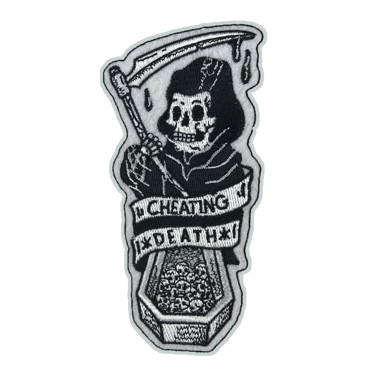 Cheating Death Reaper Coffin Embroidered Patch