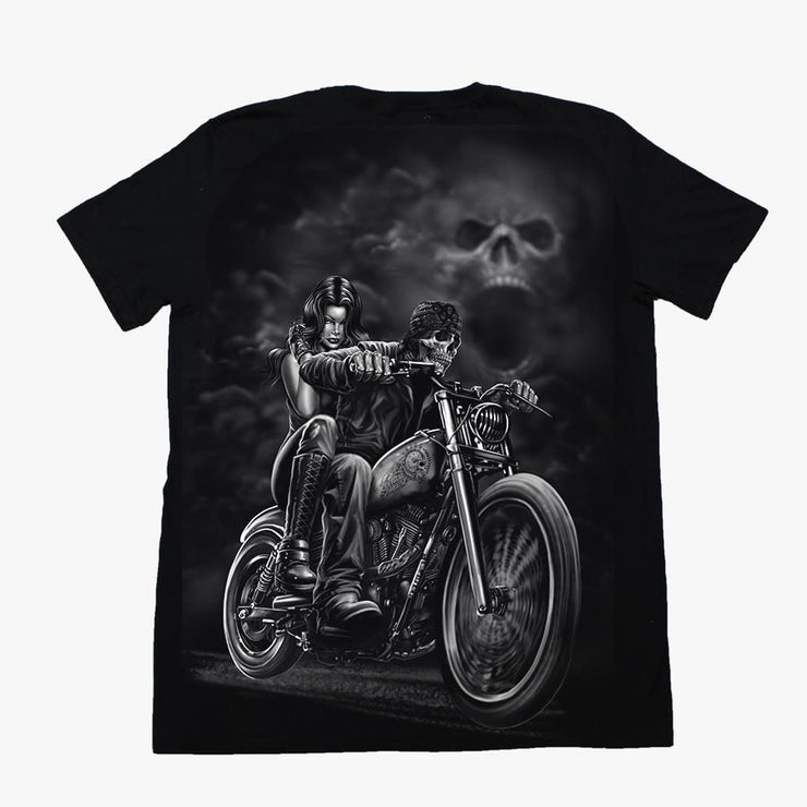 Highway to Hell Skull Biker Tee