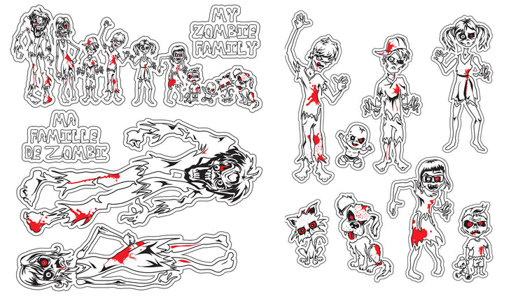 Zombie Family Sticker Kit
