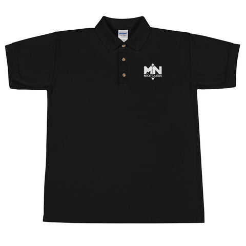 Embroidered Polo Shirt White Logo
