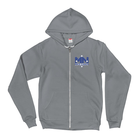 Hoodie Sweater Full Zip - Blue Logo