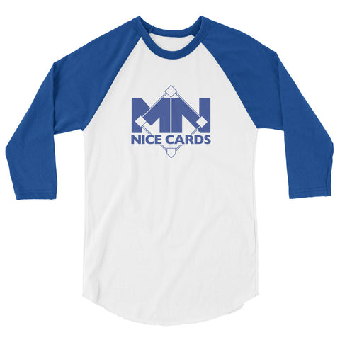 3/4 Sleeve Baseball Shirt - Blue Logo