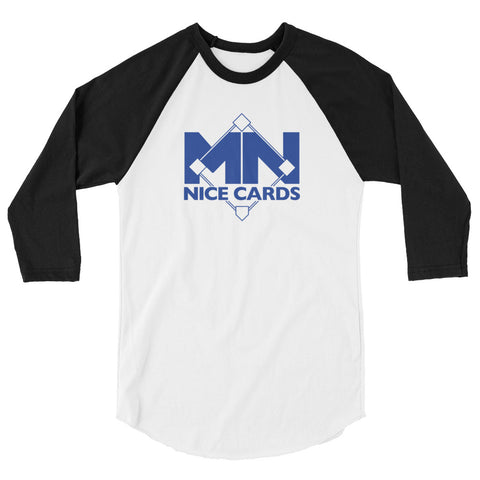 Blue Logo 3/4 sleeve raglan shirt
