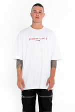 Breathe Out Tee - White