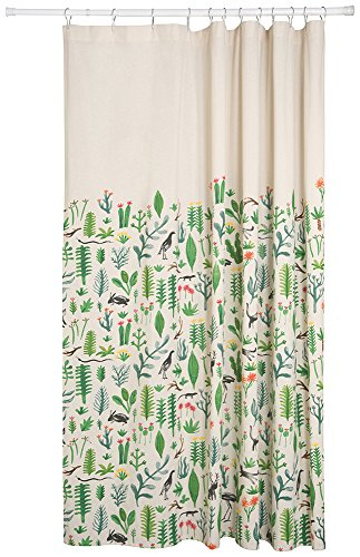 Danica Studio Cotton Shower Curtain Secret Garden HomeDecorSpot