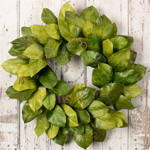 "26"" Green Magnolia Leaves Wreath"