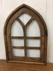 Wooden Church Window - Brown