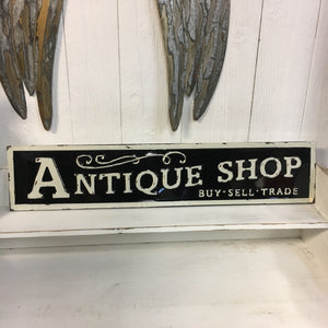 Embossed Metal Antique Shop Sign