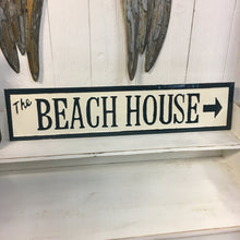 Embossed Metal Beach House Sign