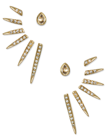 CATHERINE EAR JACKETS | Yellow Topaz