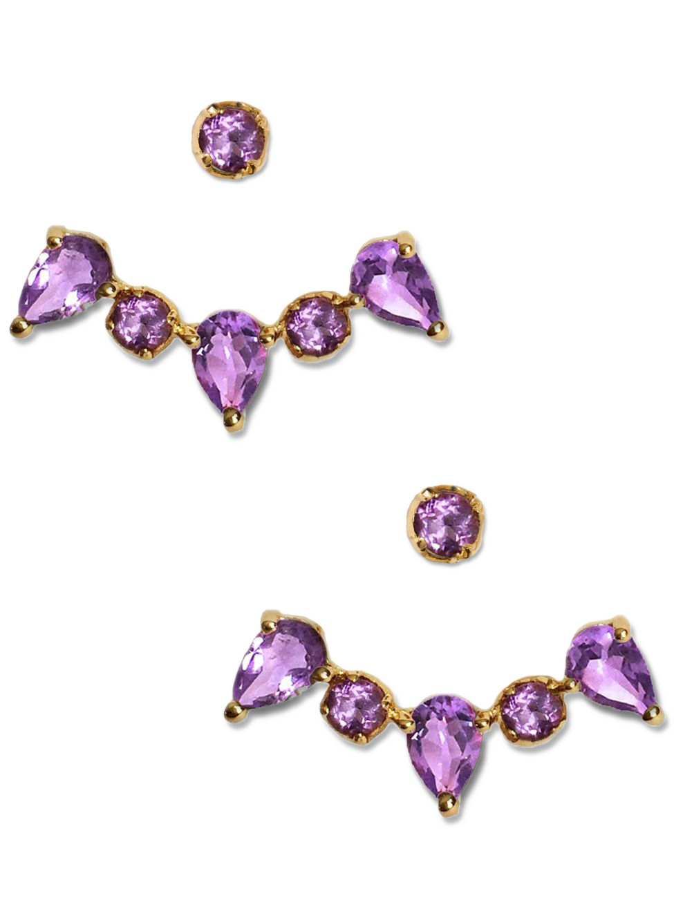 CLARA EAR JACKETS | Amethyst - Birthstone Scents