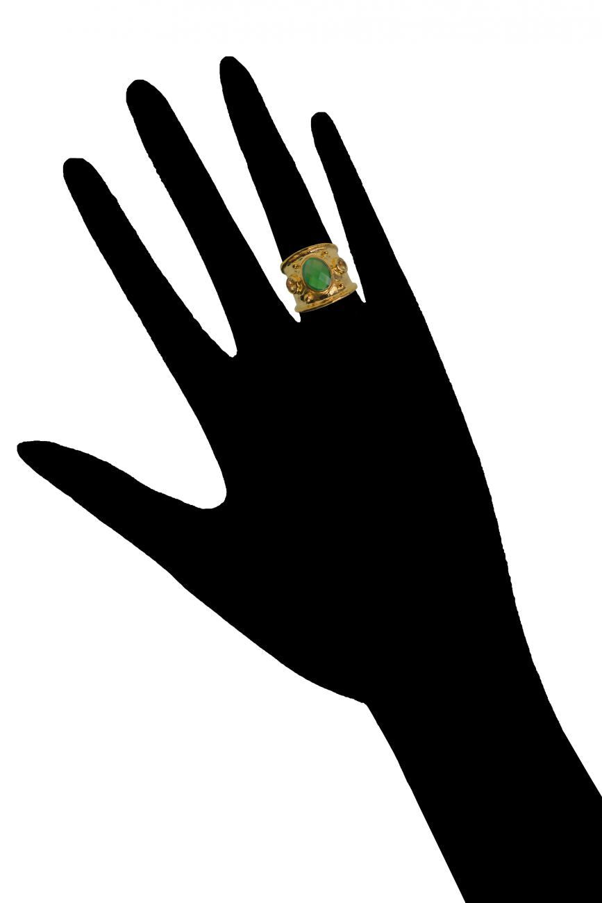 MARGOT RING | Yellow Topaz & Green Onyx