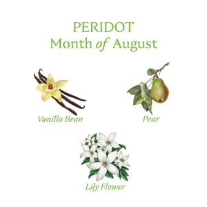 PERIDOT CANDLE | August - Birthstone Scents
