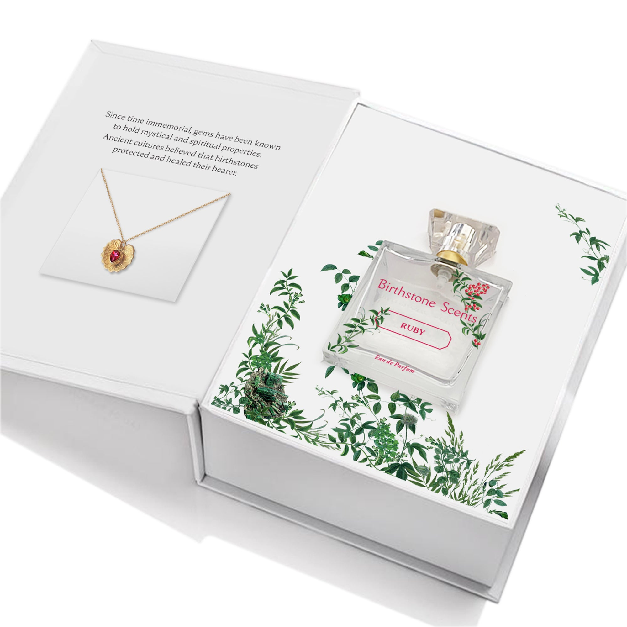 RUBY PERFUME WITH NECKLACE | July - Birthstone Scents