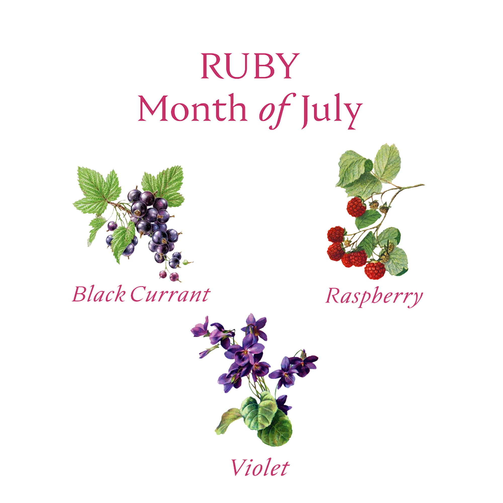 RUBY CANDLE | July