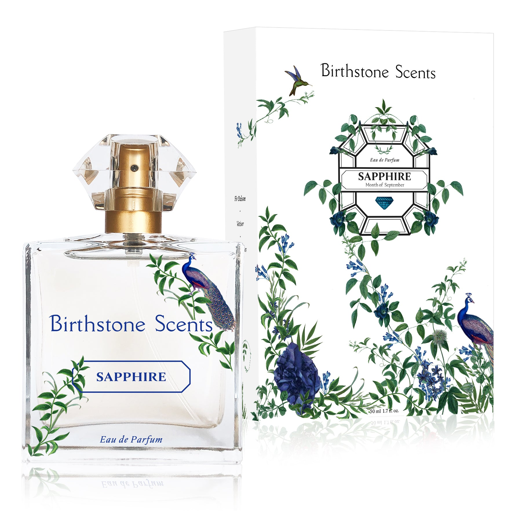 SAPPHIRE PERFUME WITH NECKLACE | September - Birthstone Scents