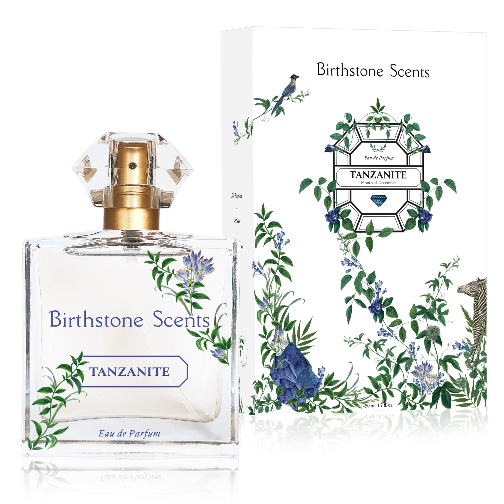TANZANITE PERFUME WITH NECKLACE | December - Birthstone Scents