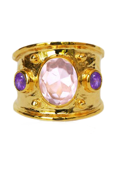 MARGOT RING | Amethyst & Rose Quartz