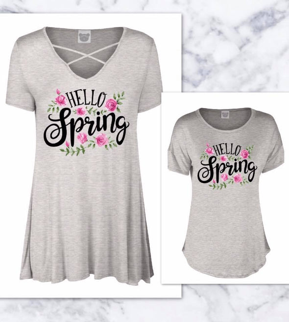Mommy Me Hello Spring Tees