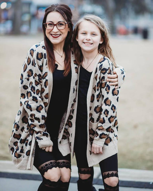 Mommy Me Leopard Cardigan