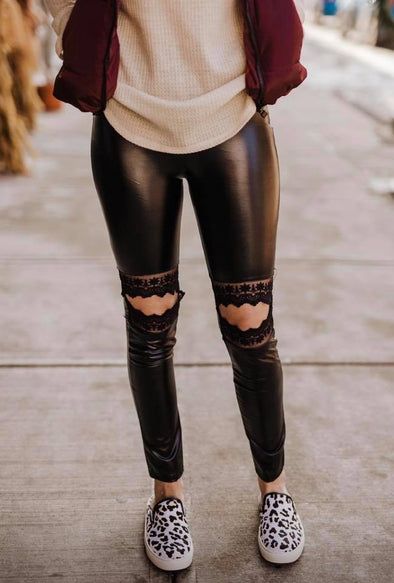 Leather Knee Legging